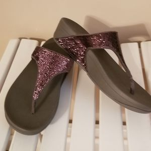 Fit flop size 5, brown sparkly